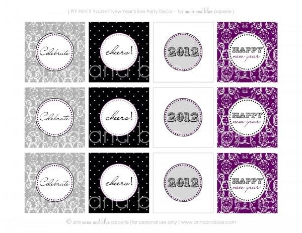 new year's eve printable circles