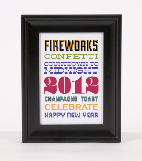 free new year's eve subway art printable