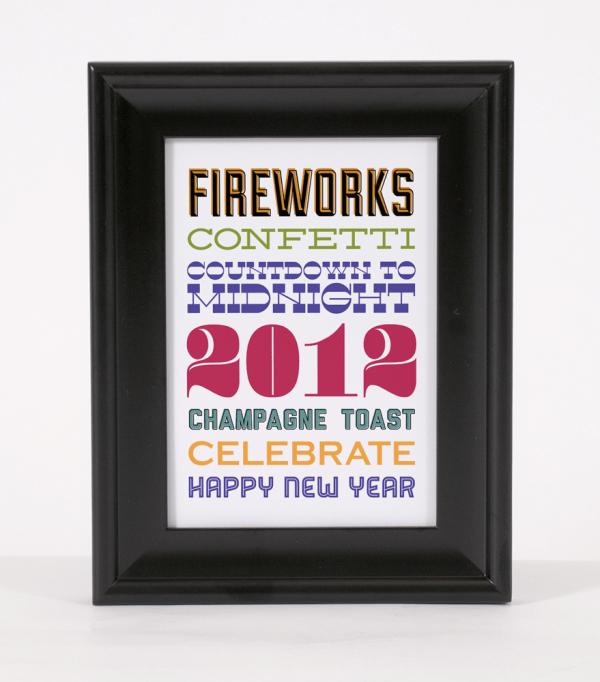 free new year's eve subway art printable