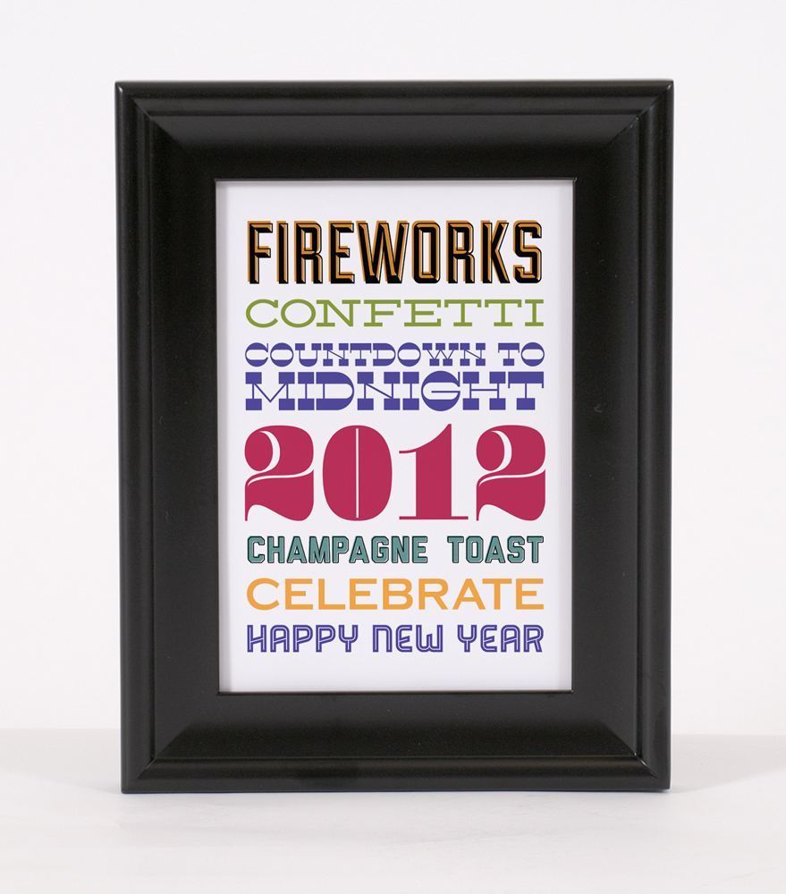 free new years eve subway art printable