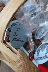Hand stamped gift tags are inexpensive, but still keep even the smallest of gifts personal and thoughtful.