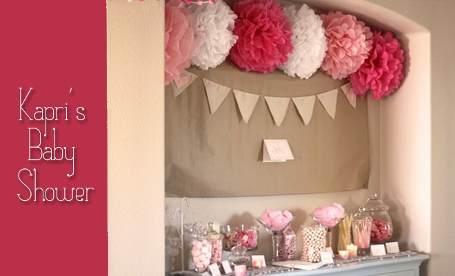 Pink Grey White Candy Buffet