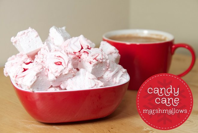 how to make candy cane marshmallows