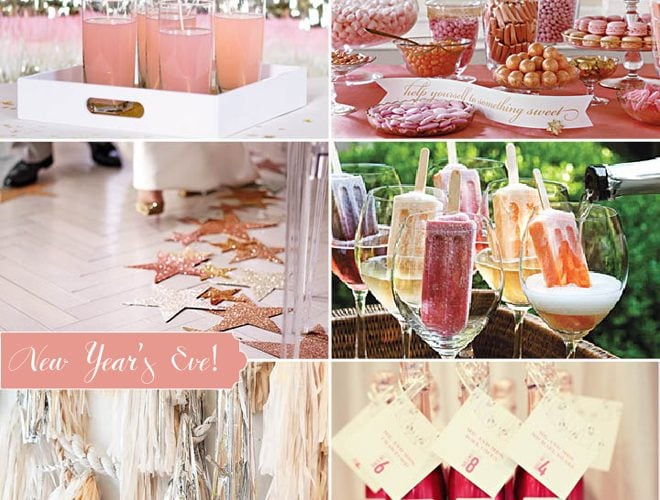 A Pink Metallic New Year's Eve Party