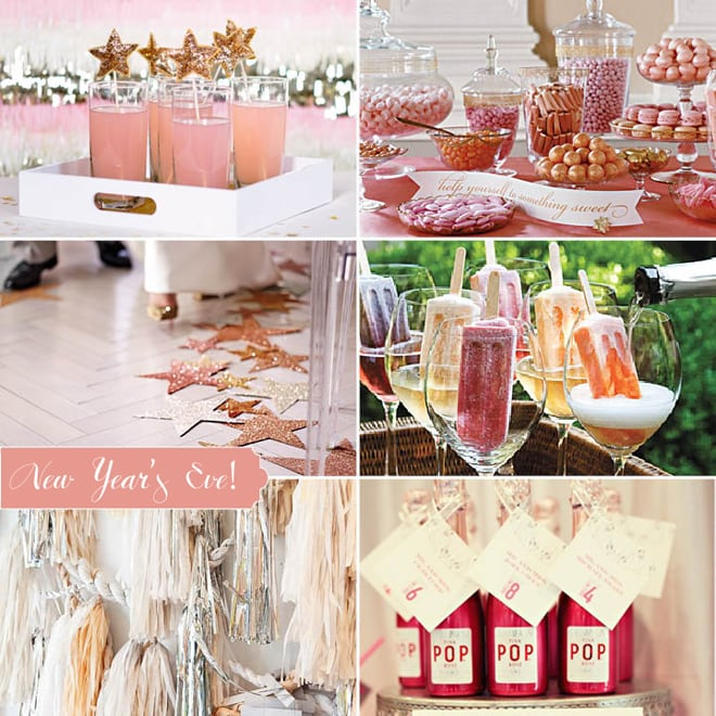 pink metallic new year's eve party ideas