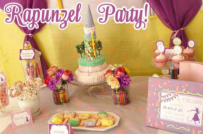 rapunzel art party pictures 1