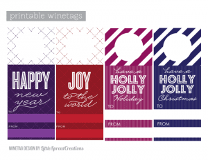 free printable holiday wine tags