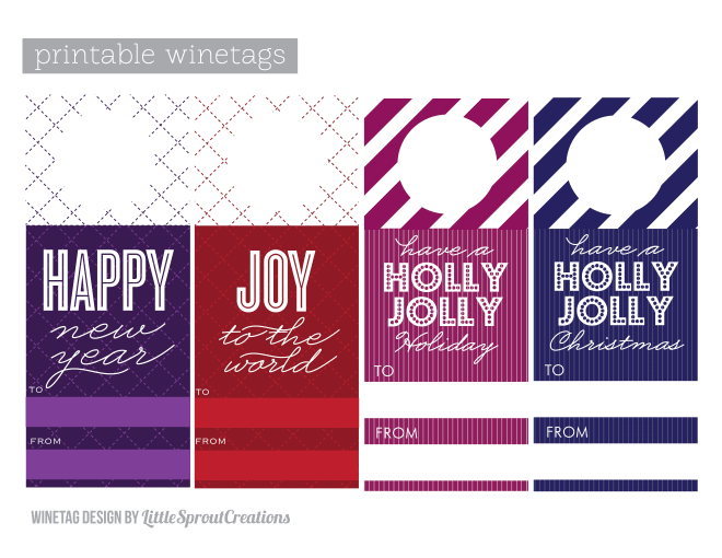 graphic relating to Printable Holiday Tags referred to as Free of charge Printable Vacation Wine Tags! Pizzazzerie