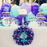 Purple Balloon 1st Birthday Party