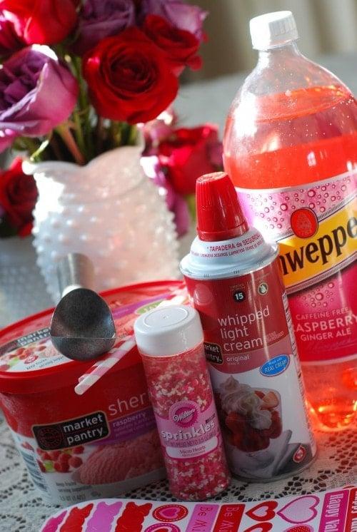 soda float for valentine's day