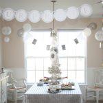 white milestone birthday winter wonderland birthday party