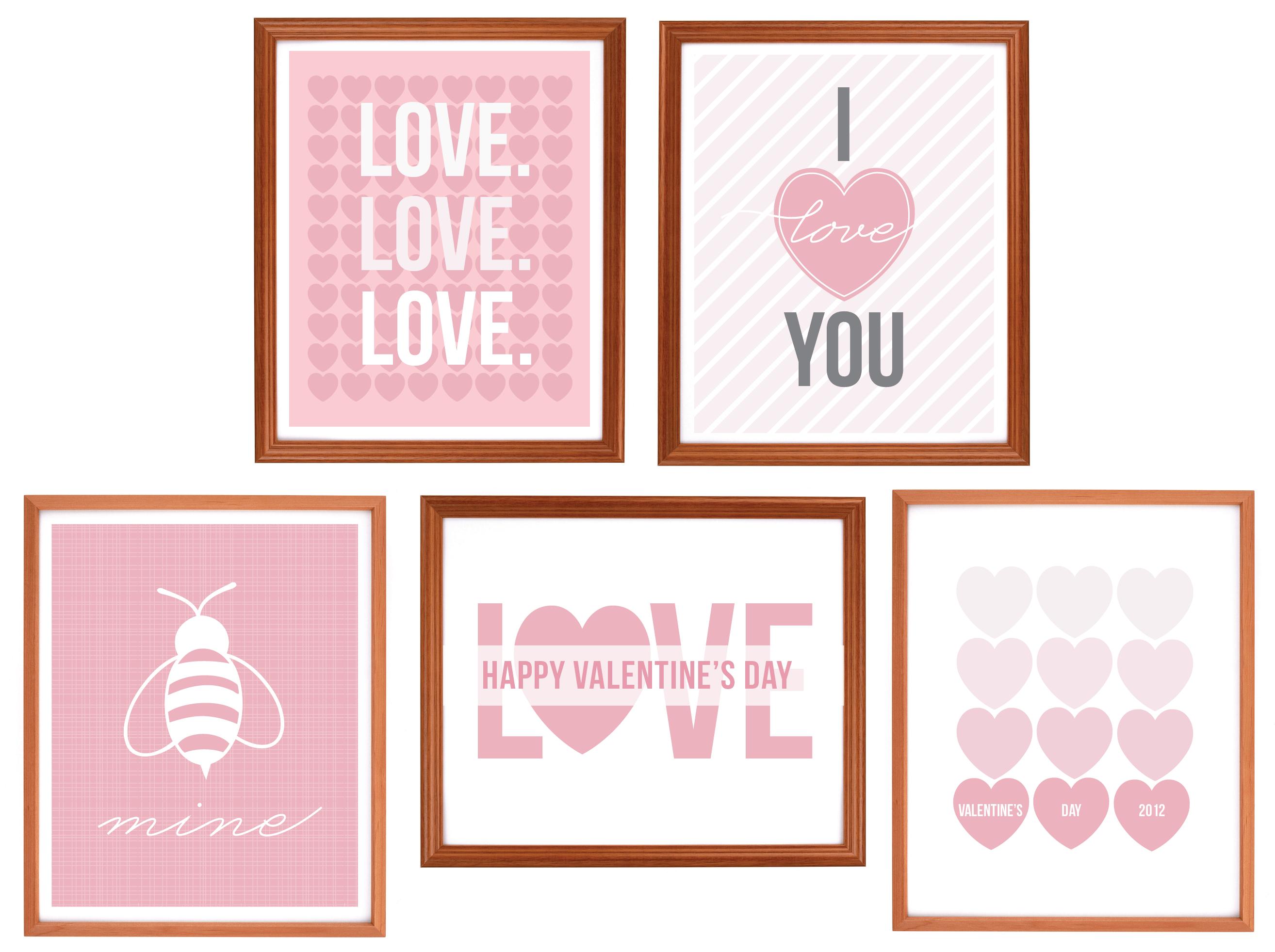 freebie art valentine 39 s day prints pizzazzerie. Black Bedroom Furniture Sets. Home Design Ideas