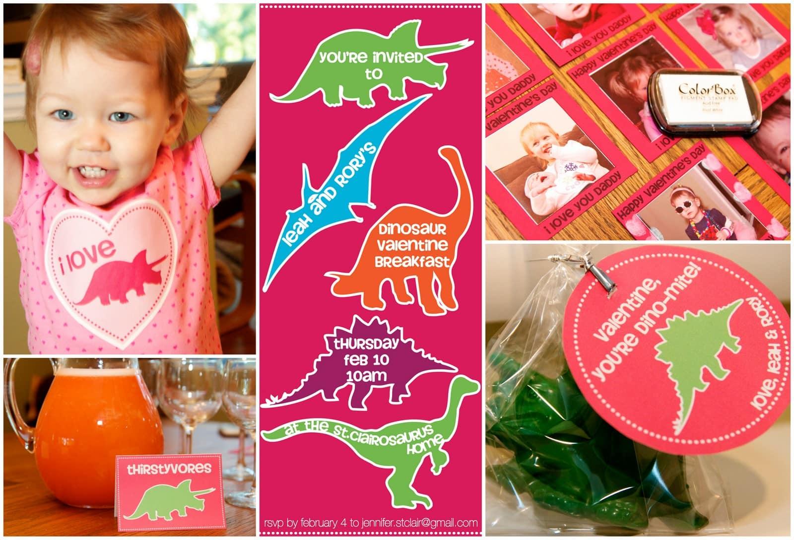 {Freebie} Dinosaur Valentine's Day Party