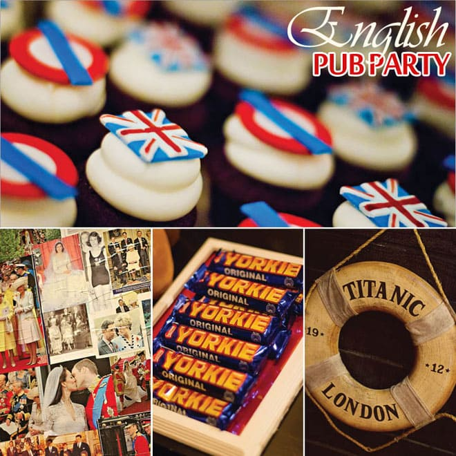 An English Pub Birthday Party | Pizzazzerie