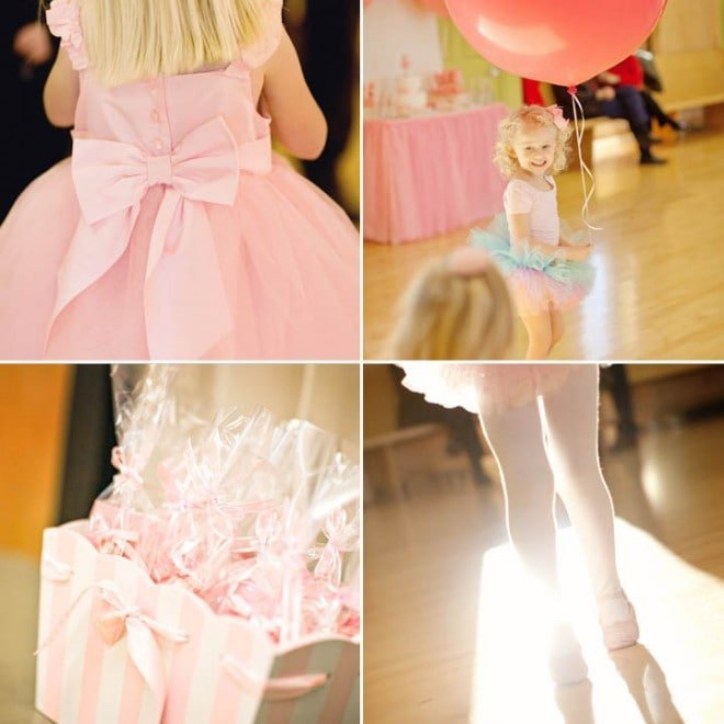 little girl's ballerina birthday party