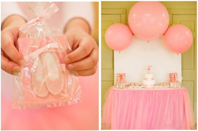 little girl's ballerina birthday party