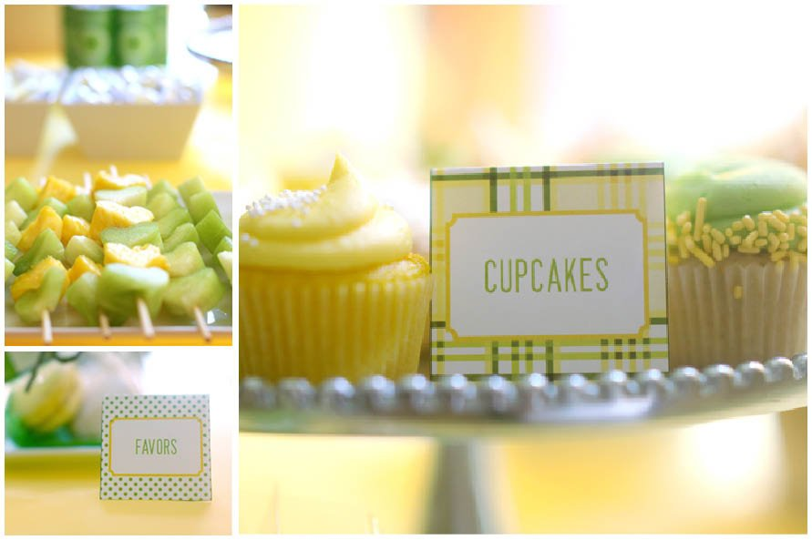 Yellow Green Plaid Bridal Shower Pizzazzerie