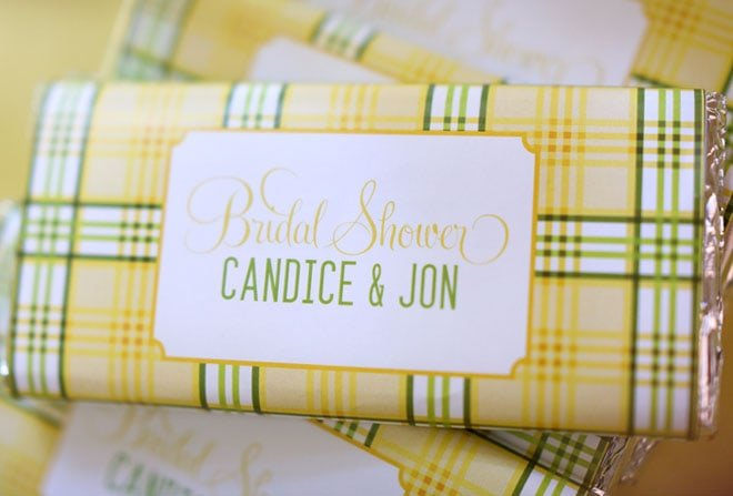 Yellow & Green Plaid Bridal Shower