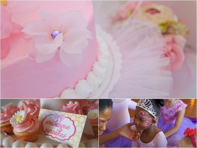 Pink + Purple Ballerina Tea Party!
