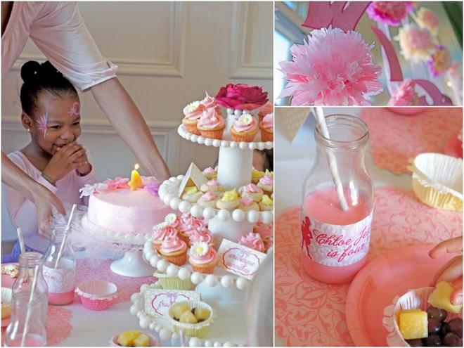 pink   purple ballerina tea party