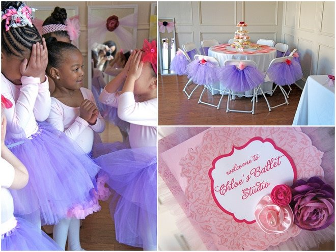 Pink Purple Ballerina Tea Party Pizzazzerie