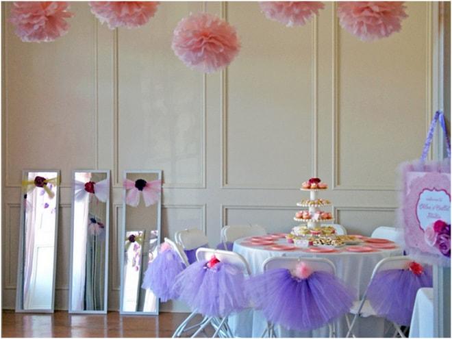 Pink Purple Ballerina Tea Party Pizzazzerie