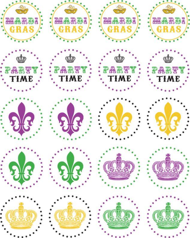 mardi gras free printables
