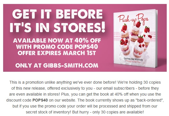 "BOOK: Early Release ""Secret Sale"" + 40% off!"