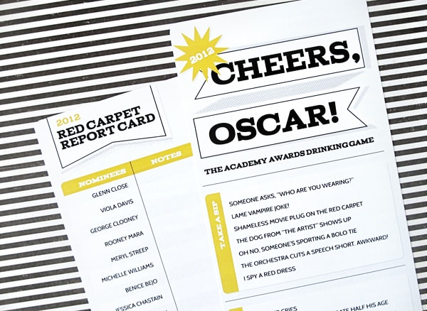 oscars free printables