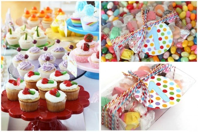 rainbow colorful birthday party