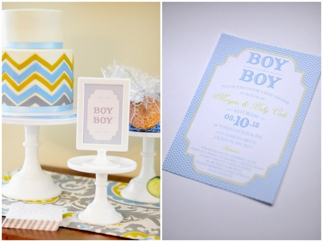 Chic + Elegant Blue and Green Baby Shower!