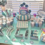 cute purple and aqua carnival baby shower