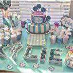 cute purple and aqua carnival baby shower
