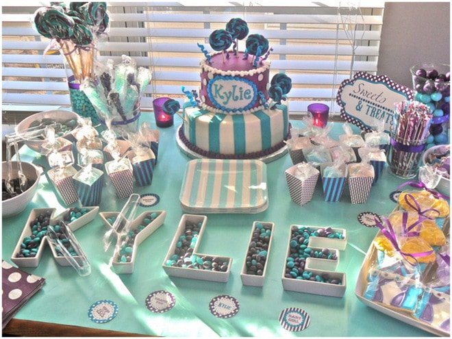 Purple + Aqua Carnival Baby Shower!