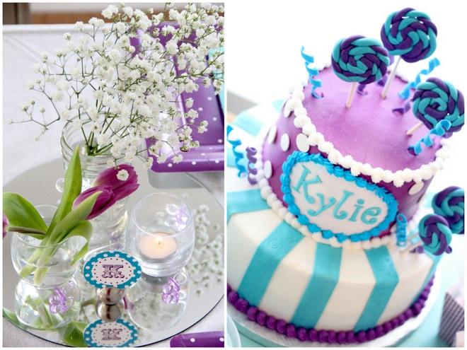 Purple Baby Shower Cake