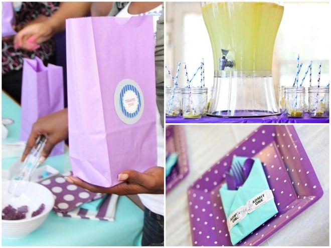 Purple Baby Shower Decorations