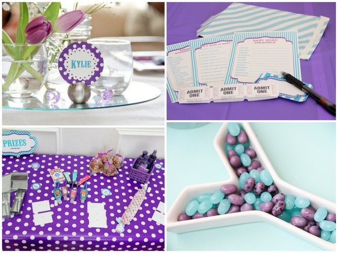 Purple and Blue Baby Shower Ideas
