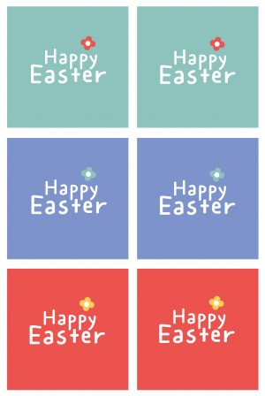 Happy Easter Cupcake Toppers