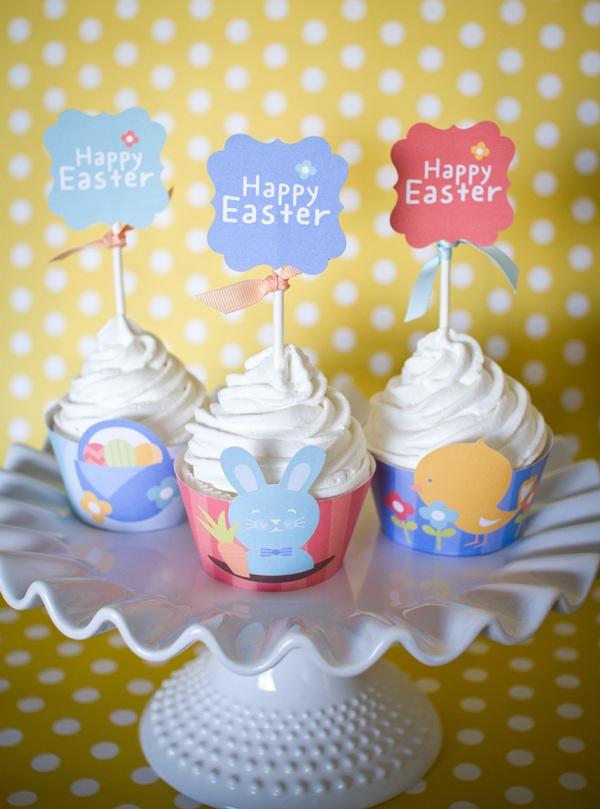 free easter cupcake printables