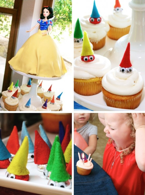 snow white birthday cake