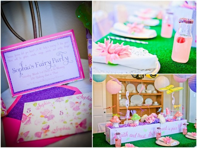 Cute + Colorful Spa Fairy Party!