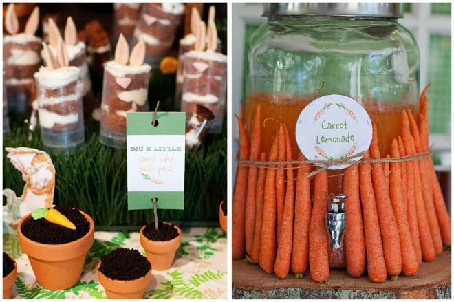carrot themed party picture