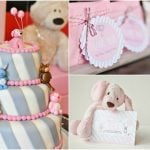 Sweet Pink and Gray Striped Birthday!