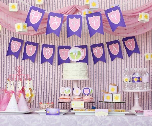 tangled princess party