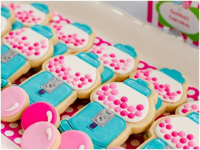 Gumball birthday Party cookies
