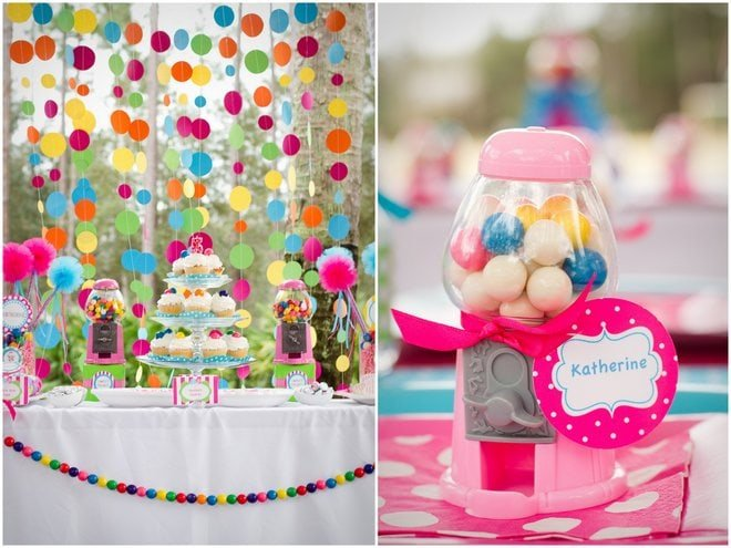 Gumball Birthday Party Backdrop