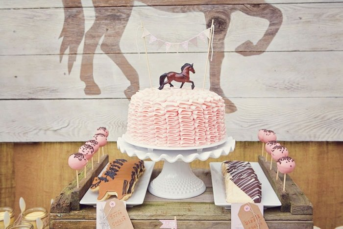 vintage pink pony birthday party