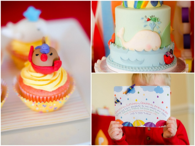 Colorful Raindrops Rainbow Party 6