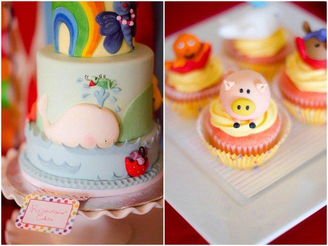 Colorful Raindrops Rainbow Party 8