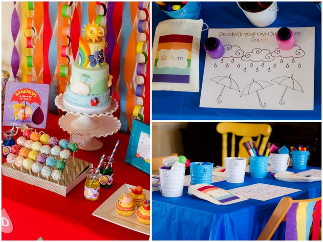 Colorful Raindrops Rainbow Party 4